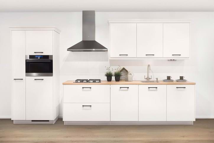 Witte keukens krijg informatie en bekijk tientallen - Betegeld zwart wit geblokte keuken ...